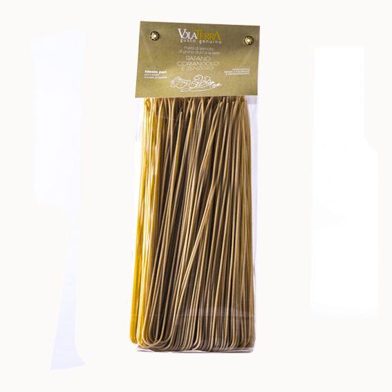 Spaghetti VolaTerrA artigianali zenzero, rafano e coriandolo