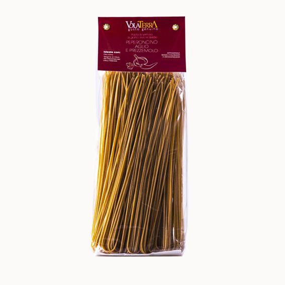 Spaghetti VolaTerrA prezzemolo, aglio e peperoncino