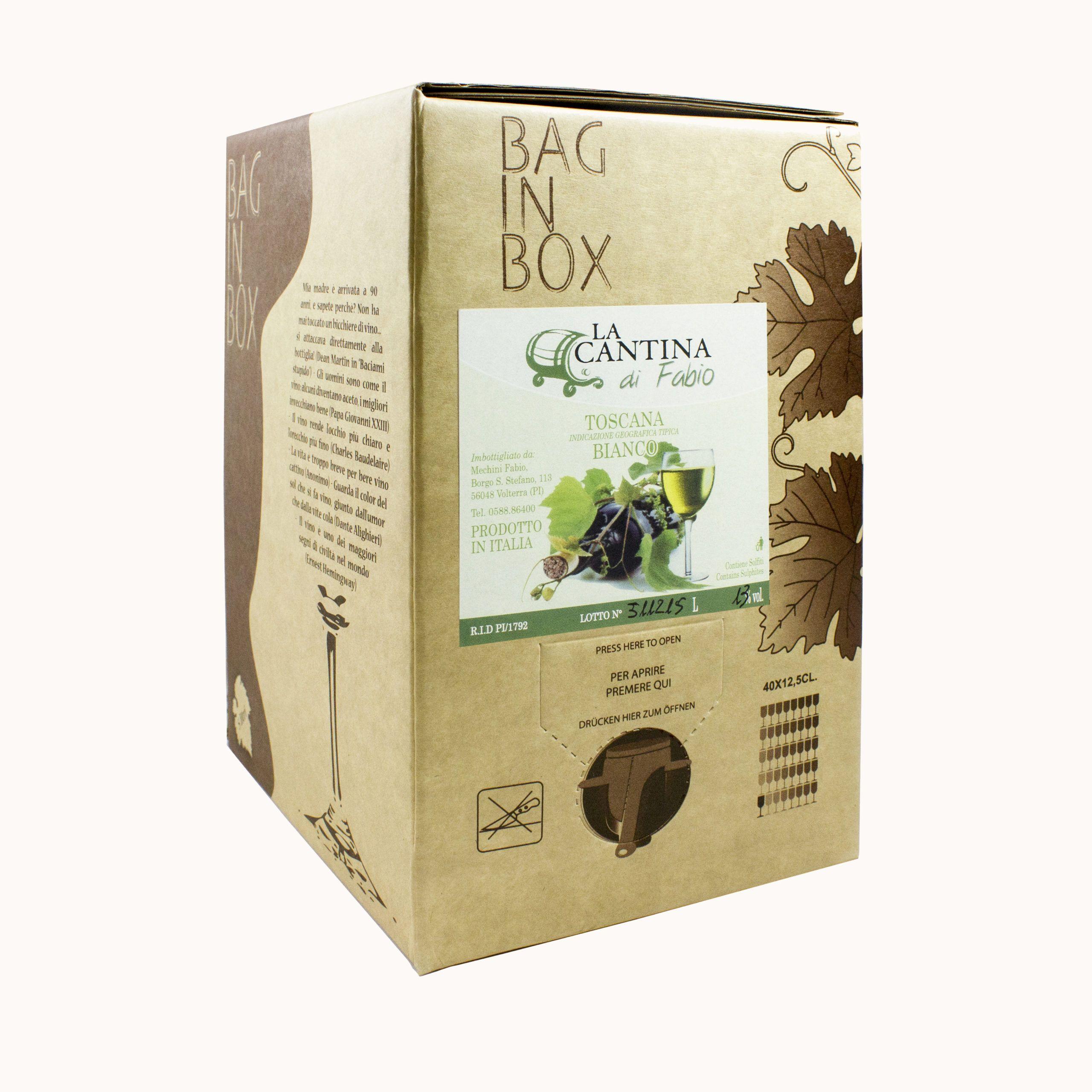 Bag in Box Vino Bianco IGT de La Cantina di Fabio
